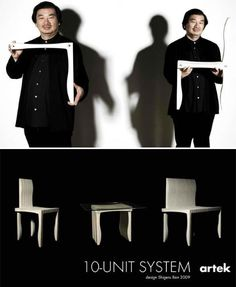 Modern Modular 10 Unit Seating System by Shigeru Ban   Designs & Ideas on Dornob ~ Ten L-shaped pieces are all you need to quickly snap together a chair, bench or table with the 10 Unit Seating System by Finnish furniture company Artek and architect Shigeru Ban. Simple, elegant and environmentally friendly, the 10 Unit Seating System is made from non-toxic, sustainable and recyclable wood-plastic composite.