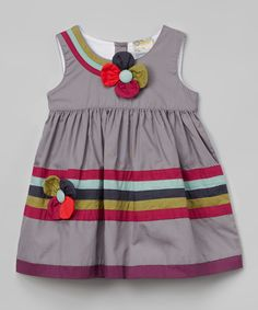 Love this Gray Flower Dress - Toddler & Girls by the Silly Sissy on #zulily! #zulilyfinds