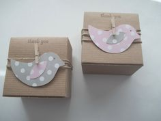 30 Bird Baby Shower favor boxes  3x3x2 inch by CrazyPaperLove