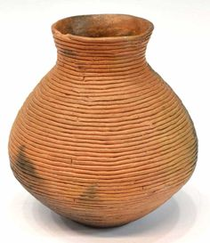 This is an example of Native American coil pottery. I like this example because the design is fairly simple, but the pot would probably be quite functional for storage purposes. It looks like something I could make.