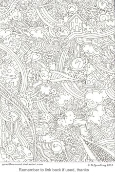Doodlerific One TO COLOUR by *Quaddles-Roost on deviantART pattern