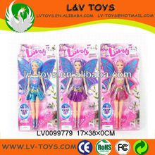 Lovely flying fairy doll for children with 3 colors