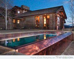 Pool With Fireplace - Backyard via www.trendsi.com