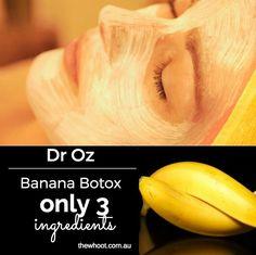 Dr Oz Banana Botox 3 Ingredient Natural Mask - the whoot
