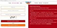 cara ikut undian roma kelapa via website