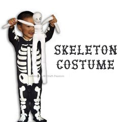 make a quick skeleton costume for the Halloween.