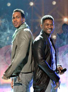 Beautiful pic of Romeo Santos and Usher