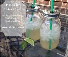 Mason Jar  Drinking Glasses - Great tutorial - these are fantastic looking!!!!