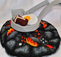 Felt Flame & Hot Coals For Cooking. $85.00, via Etsy.
