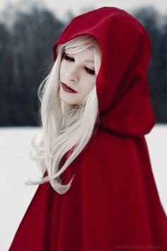 Red Ridding Hood i love the contrast of colors