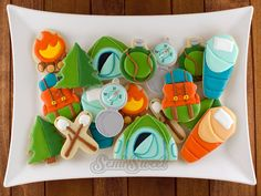 Camping Cookies Platter by Semi Sweet Designs