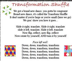 The Best Geometry Song and Dance Lesson for transformations. Free Download on Teachers Pay Teachers.