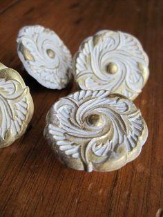 Round Antiqued Brass Drawer Knobs