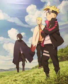 Naruto Hokage, Boruto and Sasuke by AiKawaiiChan Anime Naruto, Naruto Shippuden Sasuke, Sarada Uchiha Tumblr, Manga Anime, Naruto Und Sasuke, Naruto Cute, Wallpapers Naruto, Naruto Wallpaper, Animes Wallpapers