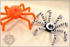 Bottle Cap Spider Kid's Craft | Bottle Cap Co Craft Blog | Halloween Kids Craft Idea