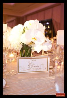 Boston Wedding Photography, Boston Event Photography, Winston Flowers, Wedding Flowers, White Centerpiece, Floral Centerpiece, Boston Table Number