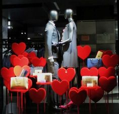 Unknown we love the idea of creating a heart shaped bullseye to here a list of effective valentines day window display ideas and suggestion for all different kind of stores altavistaventures Images