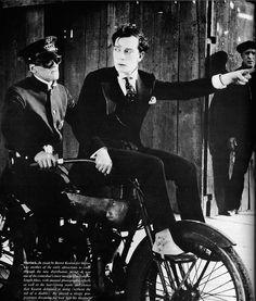 "Erwin Connelly with Buster Keaton in ""Sherlock, Jr."" 1924"
