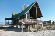 A Frame Cabin | Meyer Vacation Rentals - on lagoon side of street - all wood paneling inside