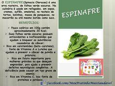NUTRIÇÃO INFANTIL - Nutricionista Alessandra Pires: Espinafre