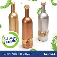 Garrafas decorativas: acrilex.com.br/esopintarevender