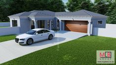 5 Bedroom House Plan - My Building Plans South Africa Round House Plans, Split Level House Plans, Square House Plans, Metal House Plans, My House Plans, House Layout Plans, House Layouts, My Building, Building Plans