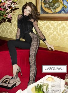 Stephanie Seymour for Jason Wu. Love the pants.