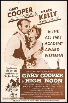 High Noon poster, t-shirt, mouse pad Poster On, Poster Prints, Fred Zinnemann, Lloyd Bridges, Information Poster, Gary Cooper, Western Film, High Noon, Original Movie Posters