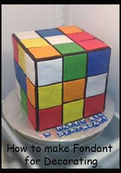Rubix Cube Cake   Great Decorating Helps here.