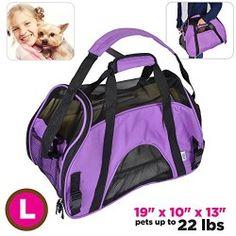 Pet Carrier Mesh Ventilation Fleece Bed Cat or Dog Tote Travel Bag