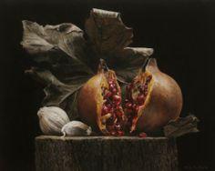 Tardor sobre tronc - Rafael de la Rica - 35x23 cm - Oil in Wood