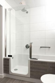 Douche en bad combineren wat dacht je van de repabad stairway een gecombineerde oplossing - Badkamer lay outs met douche ...