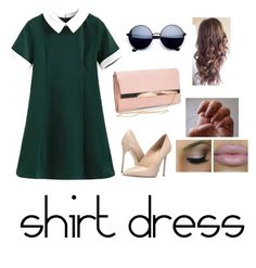 """""""#shirtdress"""" by fashion-freak-out ❤ liked on Polyvore featuring Massimo Matteo, New Look and shirtdress"""