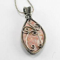 Start creating the artisan jewelry you've always admired! Learn to weave a stunning wire pendant, bail and embellishments that will showcase any stone in style. Wire Pendant, Wire Wrapped Pendant, Wire Wrapped Jewelry, Metal Jewelry, Pendant Jewelry, Beaded Jewelry, Wire Wrapped Stones, Jewellery, Boho Jewelry