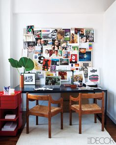 Home office shot by Roger Davies for Elle Decor