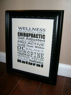 Chiropractic Subway Art Subway Art Chiropractic by MadeByCRose, $35.00