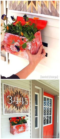 DIY Decorative Mailbox Planter - Step by Step tutorial to turn a cute mailbox into a darling planter and affix it {securely} to your vinyl siding!  {Reality Daydream}