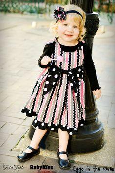 Girls Jumper Dress Pattern with Big Bow Sash - PDF Sewing Pattern  $8.00