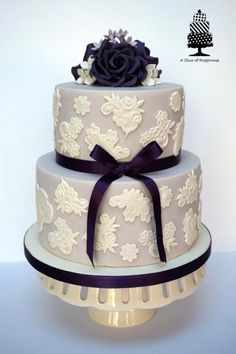 Roses and Lace - Cake by Angela - A Slice of Happiness
