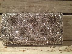 Gary Gail Silver Sequin Beaded Clutch *60s Glam* After Five Fashion Accessory!  #Clutch
