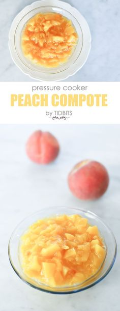 Pressure Cooker Peach Compote. Perfect delicious on top of desserts, warm breakfasts, or eating by the spoonful.