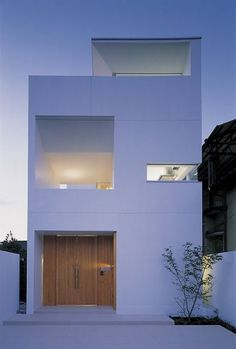 Modern house design & architecture: Osaka T House / Akira Matsumoto… - Trend Heilige Architektur 2019 Architecture Du Japon, Modern Architecture Design, Minimalist Architecture, Residential Architecture, Modern House Design, Interior Architecture, Modern Buildings, Arch House, Facade House
