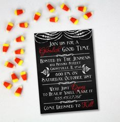 HALLOWEEN PARTY INVITATION Printable  by AlluringPrints on Etsy