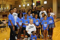 [PHOTOS] Jayne Appel, Danielle Robinson and Shenise Johnson came out to participate in the BBVA Compass Reading Counts program and help run basketball clinics for local children. Reading Counts, Coming Out, Compass, Clinic, Basketball Court, Running, News, Children, Sports