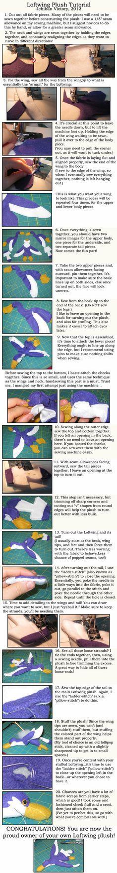 Loftwing Plush Tutorial by IchibanVictory