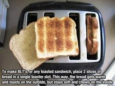 Toast two slices of bread together for the perfect sandwich. | Community Post: 35 Clever Food Hacks That Will Change Your Life