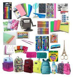 """School supplies"" by conversegirl12 on Polyvore"