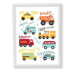 Looking for that perfect vehicle theme art print? Buy now or pin to save for later!
