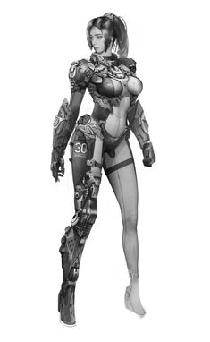 Scroll to see Female Character Concept, Character Design Cartoon, Science Fiction, Female Characters, Fictional Characters, Illustrations, Cyberpunk, Art Girl, Disney