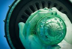 NYC. Statue of Liberty torch from the bottom upwards // Panoramio